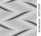 waves seamless pattern. wavy... | Shutterstock .eps vector #535713559