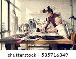 fashion designer stylish... | Shutterstock . vector #535716349