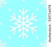 snow flake seamless vector ... | Shutterstock .eps vector #535716478