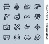 travel web icons.  vacation and ... | Shutterstock .eps vector #535723948