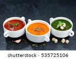 assortment of vegetable cream...   Shutterstock . vector #535725106