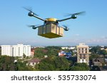 delivery drone with the... | Shutterstock . vector #535733074