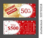 gift voucher template. can be... | Shutterstock .eps vector #535733218