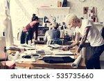 creative design dress fashion... | Shutterstock . vector #535735660