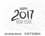grunge  hand drawn lettering on ... | Shutterstock . vector #535735804
