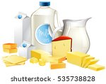 different types of dairy...   Shutterstock .eps vector #535738828