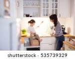 mother with her daughter in the ... | Shutterstock . vector #535739329
