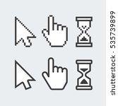 pixel cursors icons. vector... | Shutterstock .eps vector #535739899