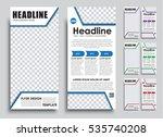 template flyer size of 210x99... | Shutterstock .eps vector #535740208