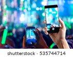 people use smart phones record...   Shutterstock . vector #535744714
