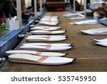 worker making shoe sole... | Shutterstock . vector #535745950