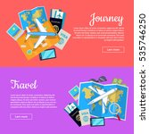 journey and travel web banner.... | Shutterstock .eps vector #535746250