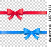 illustration of two ribbons... | Shutterstock .eps vector #535746598