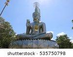 buddha made of stainless steel  ... | Shutterstock . vector #535750798