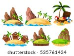 different scenes of islands... | Shutterstock .eps vector #535761424