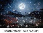 christmas backgrounds night sky ... | Shutterstock . vector #535765084