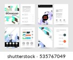 geometric background template... | Shutterstock .eps vector #535767049