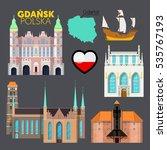 gdansk poland travel doodle...   Shutterstock .eps vector #535767193