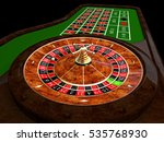 classic casino roulette and... | Shutterstock . vector #535768930