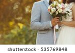bride and groom on wedding day | Shutterstock . vector #535769848