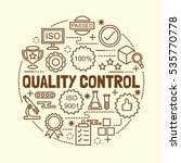 quality control minimal thin... | Shutterstock .eps vector #535770778