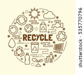 recycle minimal thin line icons ... | Shutterstock .eps vector #535770796