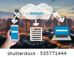 clouds and data technology... | Shutterstock . vector #535771444