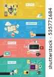 flat concept banners. audio ... | Shutterstock .eps vector #535771684