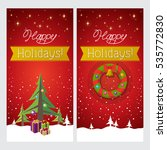 happy holidays. greeting cards | Shutterstock .eps vector #535772830