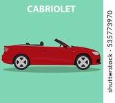 car cabriolet vehicle transport ... | Shutterstock .eps vector #535773970