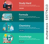 education and science vector... | Shutterstock .eps vector #535774213