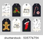 gift tags set. vector hand... | Shutterstock .eps vector #535776754