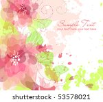 artistic flower background | Shutterstock .eps vector #53578021