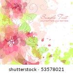 artistic flower background | Shutterstock .eps vector #53578021