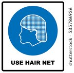 use hair net sign. vector... | Shutterstock .eps vector #535786936