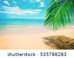 beautiful sunny beach. view of... | Shutterstock . vector #535788283
