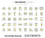 set  line icons with open path... | Shutterstock . vector #535789870