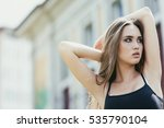 gorgeous girl portrait in the... | Shutterstock . vector #535790104
