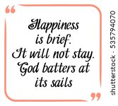 happiness quote. handwritten... | Shutterstock .eps vector #535794070