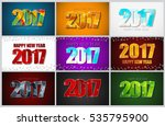 set of backgrounds with a happy ... | Shutterstock .eps vector #535795900