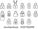 padlocks outline icons | Shutterstock .eps vector #535796098