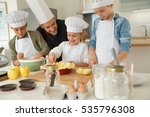 pastry class with kids little...   Shutterstock . vector #535796308