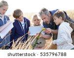 teacher taking kids to... | Shutterstock . vector #535796788