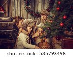 mothers with children decorate... | Shutterstock . vector #535798498