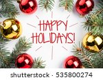 christmas decorations with... | Shutterstock . vector #535800274