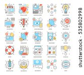Flat Color Line Icons 1