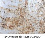 dirty metal paint white scratch ... | Shutterstock . vector #535803400