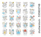 Flat Color Line Icons 16