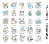 flat color line icons 11 | Shutterstock .eps vector #535803763