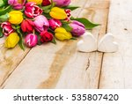 Bouquet Of Fresh Tulips With...